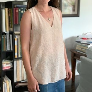 Alfred Sung Pastel Pink Top, Size M